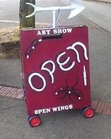 Art Show signage made by Tim Deakin for Kelly Deakin Carter